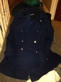 Navy school coat age 13