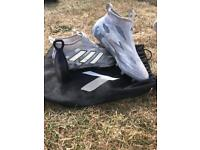 Adidas ace 17+ pure control grey/ white size 9