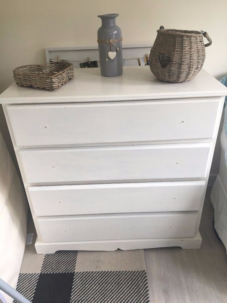 Pine four drawer chest of drawers