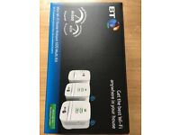 BT Mini Wifi 600 home hotspot power line adapter kit set of 3