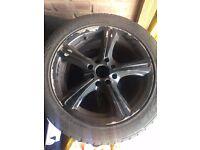 """15"""" Black alloys/tyres/wheels"""