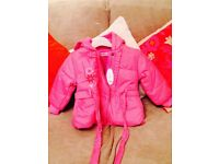 Brand new pink baby jacket