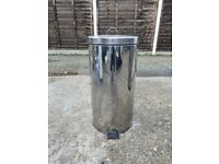 Large Stainless Steel Bin with Pedal
