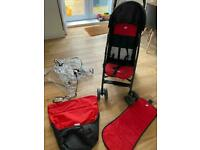 Joie buggy / stroller with footmuff and rain-cover