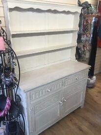 Cream Welsh Dresser. Good condition, £150 or nearest offer