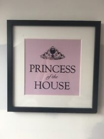 Princess of the House framed print