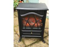 Black switch control freestanding electric stove