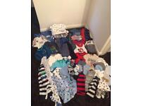 Bundle of boys 0-3 month clothes