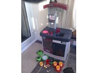 Children's Play Kitchen by Smoby with Accessories Perfect for role play pots pans utensils cups