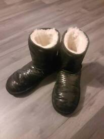 Genuine womens black ugg boots size 2