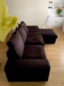 IKEA KIVIK L shape + Chaise Longue + Footstool