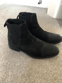 Black genuine leather Zara boots UK 8 / eu 41