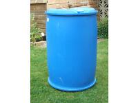 210 lts BLUE PLASTIC BARRELS