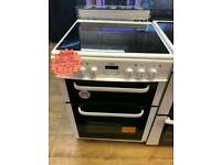 BUSH 60CM ELECTRIC DOUBLE OVEN COOKER IN WHITE