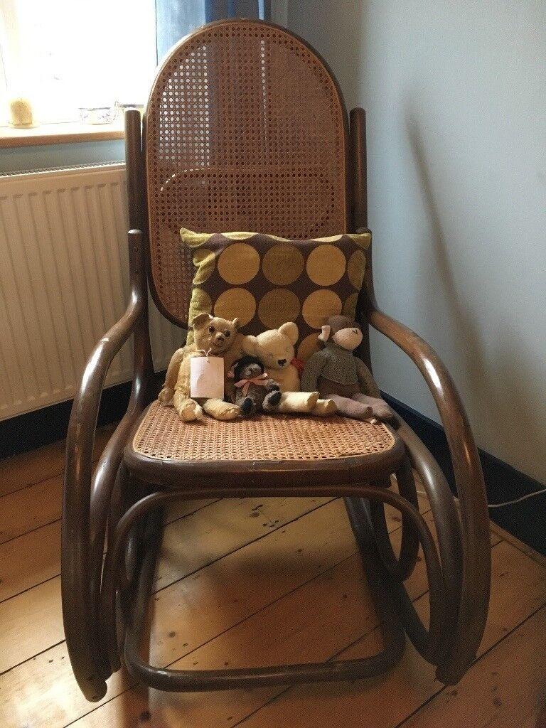 Original 1970's Bamboo bentwood rocking chair