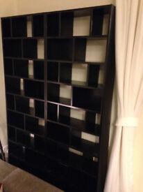2 x Habitat black CD storage units (CLEO)