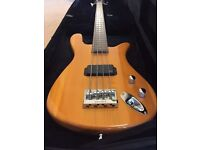 Warwick electric bass guitar with case