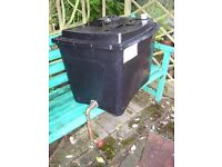 114L. Black Plastic cold water tank