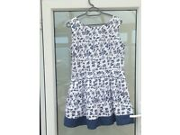 Blue and White dress size 14