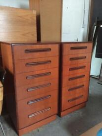 Vintage Gplan chests of drawers retro