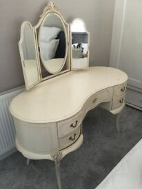 Pretty dressing table and stool