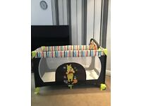 travel cot & playpen like new hardly used with mstress and bag 60cm x 120cm