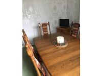Ercol Dinning Room Table & 6 Chairs