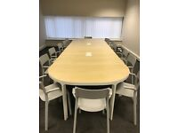 As new Boardroom table and chairs
