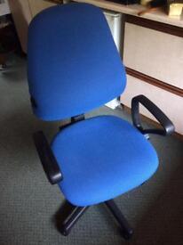 Blue compute chair
