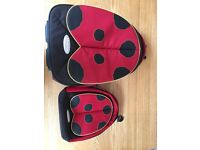 Samsonite Sammies Ladybird Luggage Suitcase with Wheels & Backpack