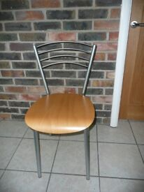 Matching set of 6 Italian designed and made kitchen/dining chairs