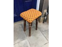 Stool - sturdy with new upholstery