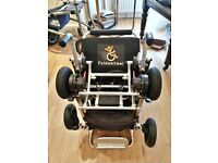 FOLDAWHEEL PW-999UL ELECTRIC WHEELCHAIR (NEVER USED) with ACCESSORIES, USER MANUAL, RECEIPT