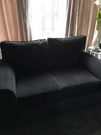 Two seater sofas and ottoman