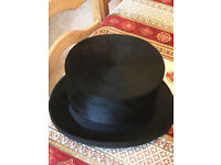 Tress & Co London made for Forsyth Top Hat and Spats with Button Hook