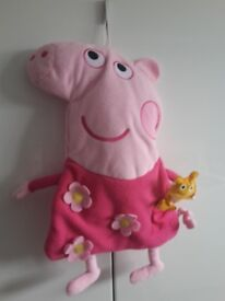 Peppa pig pyjama bag and plush back pack