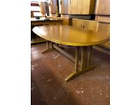 G plan 1970's Coffee Table. Oval shaped. Lovely design and very solid.