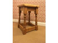 Small solid pine stool