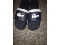 Lacoste sliders size 9/10
