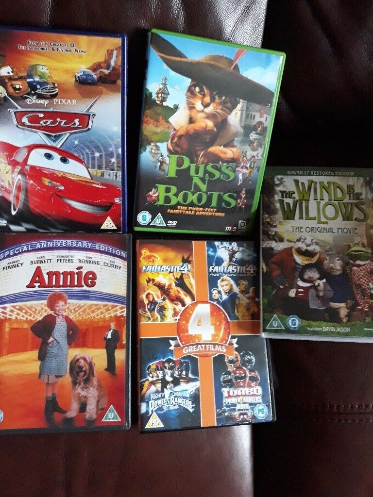 Mixed selection of childrens dvds