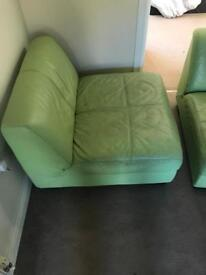Low profile leather settee! Very cheap