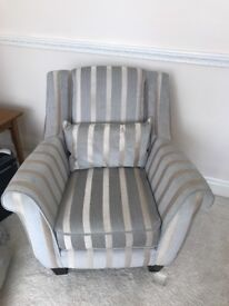 3 seater sofa, footstool and arm chair