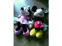 "New with Tags large 24"" tall Mickey Mouse and Minnie Mouse"