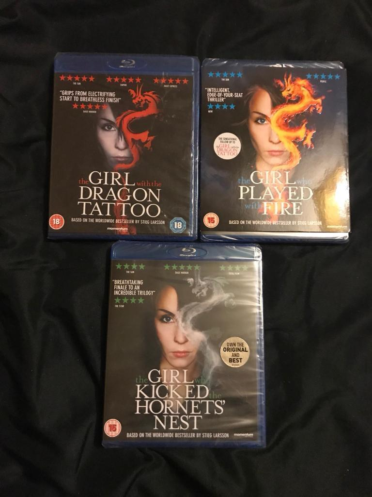 The Girl With The Dragon Tattoo Trilogy Blu-Ray