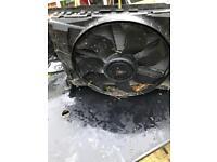 Mercedes radiators and fan
