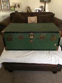 Old chest green need restored