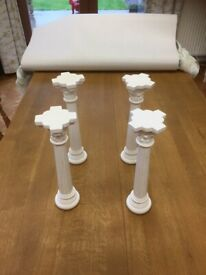 "Traditional plaster cake pillars 11.5"" high"