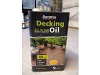 Clear decking oil
