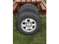 4x wheels and tyres all in good condition with very slight surface rust all tyres legal .