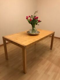 6/8 wooden table